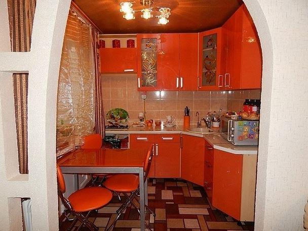 кухни с барной стойкой фото в старом осколе
