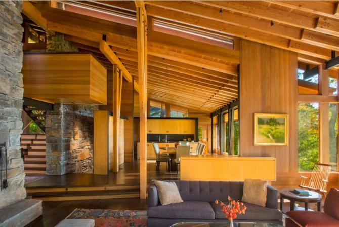 Vidiecky dom v modernom štýle vás ohúri svojou krásou