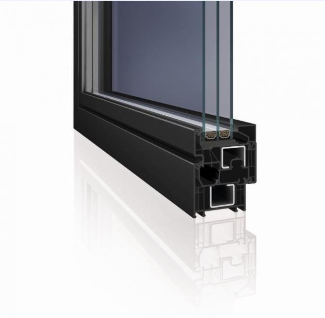 Pre domy s nulovou potrebou energie je vhodný šesťkomorový profil Elegant so stavebnou hĺbkou 76 mm a koeficientom tepelnej priestupnosti rámom Uf = 0,93 W/m2K s oceľovou výstužou a Uf = 0,88 W/m2K s využitím technológie Thermofibra a výstuže Forthex.